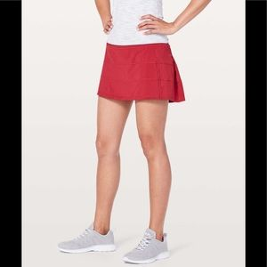 Lululemon Athletica Workout Red Pace Rival Skirt